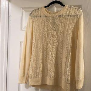 J. Crew cream Irish sweater